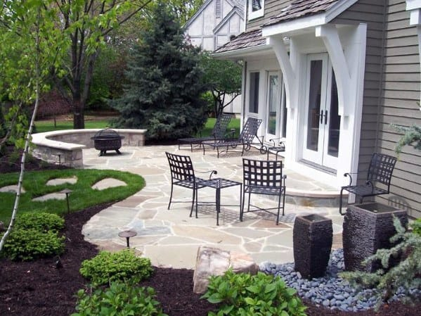 Top 60 Best Flagstone Patio Ideas - Hardscape Designs on Small Backyard Stone Patio Ideas id=79971