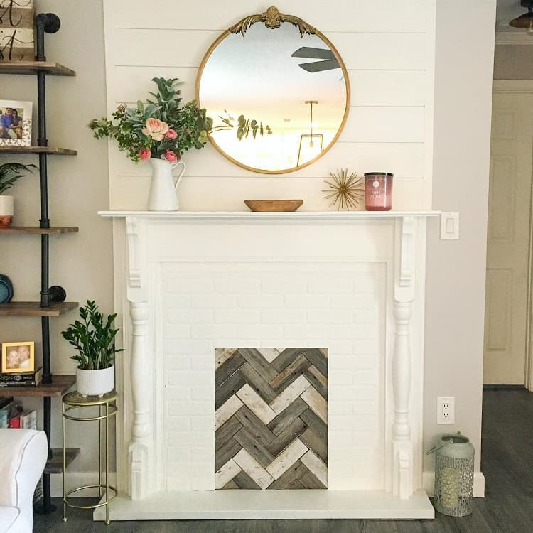 Beautiful Faux Fireplace Surround Soulstaging