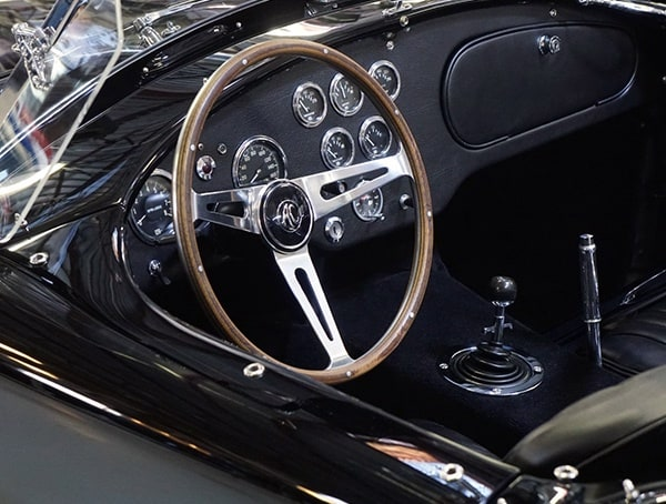 Beautiful Interior Of Black Shelby Cobra Vintage Car