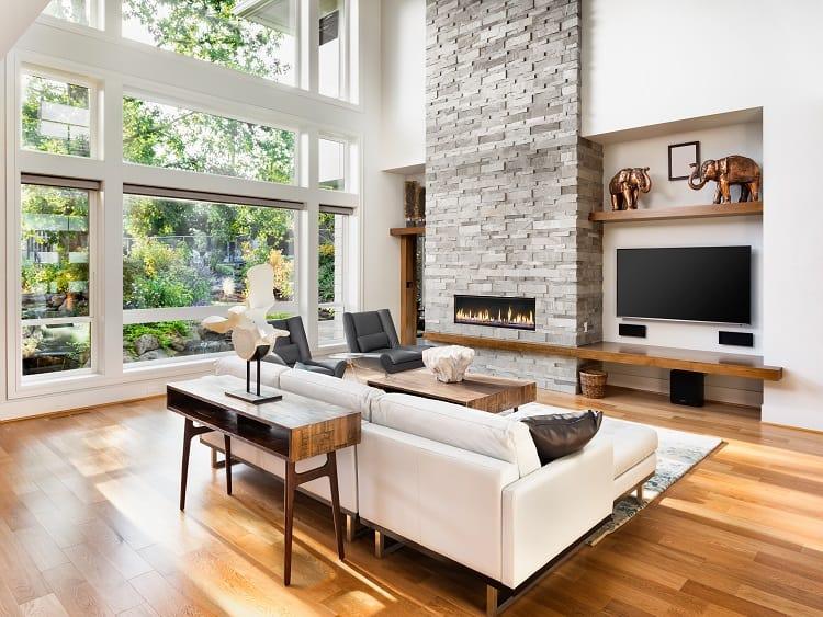 Beautiful Livingroom Fireplace Entertainment Center
