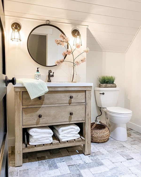 Beautiful Minimalist Farmhouse Bathroom Vanity Lifeamongthecedars