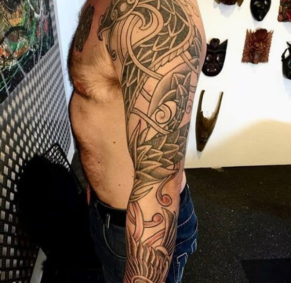 100 Norse Tattoos For Men Medieval Norwegian Designs