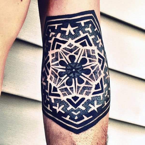 Beautiful Pattern Tattoo Male Forearms