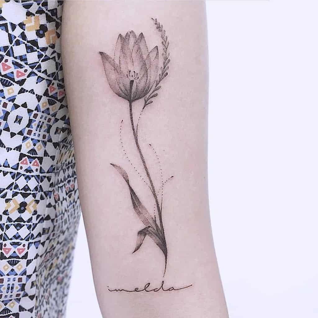 Beautiful Tulip Tattoo