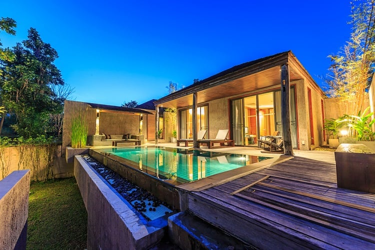 Beautiful Villa Above Ground Pool Wood Deck