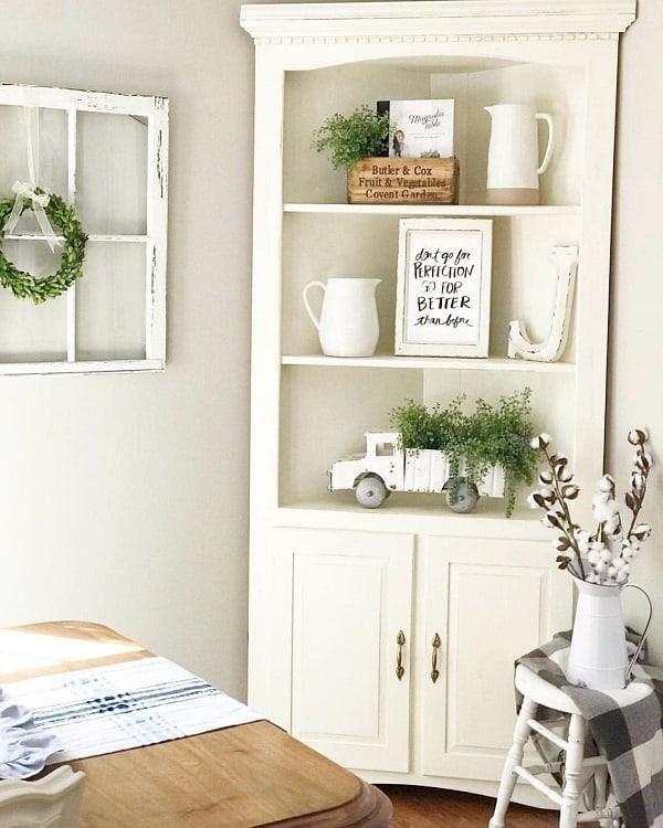 Beautiful White Corner Open Shelving Pammyandpoppy