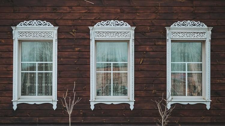 Beautiful White Exterior Window Trim Crown Molding