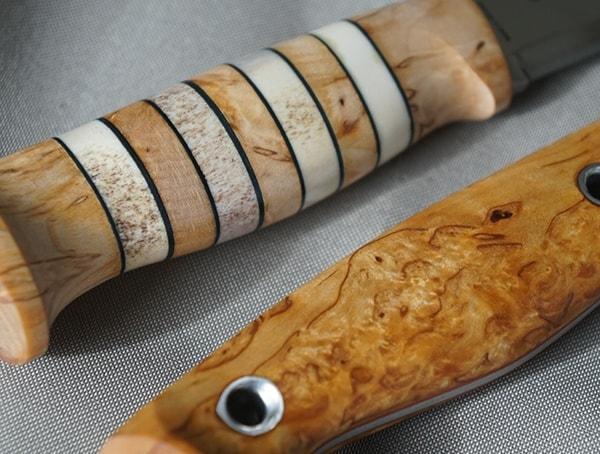 Beautiful Wood Handle Details Helle Arv And Utvaer Knives