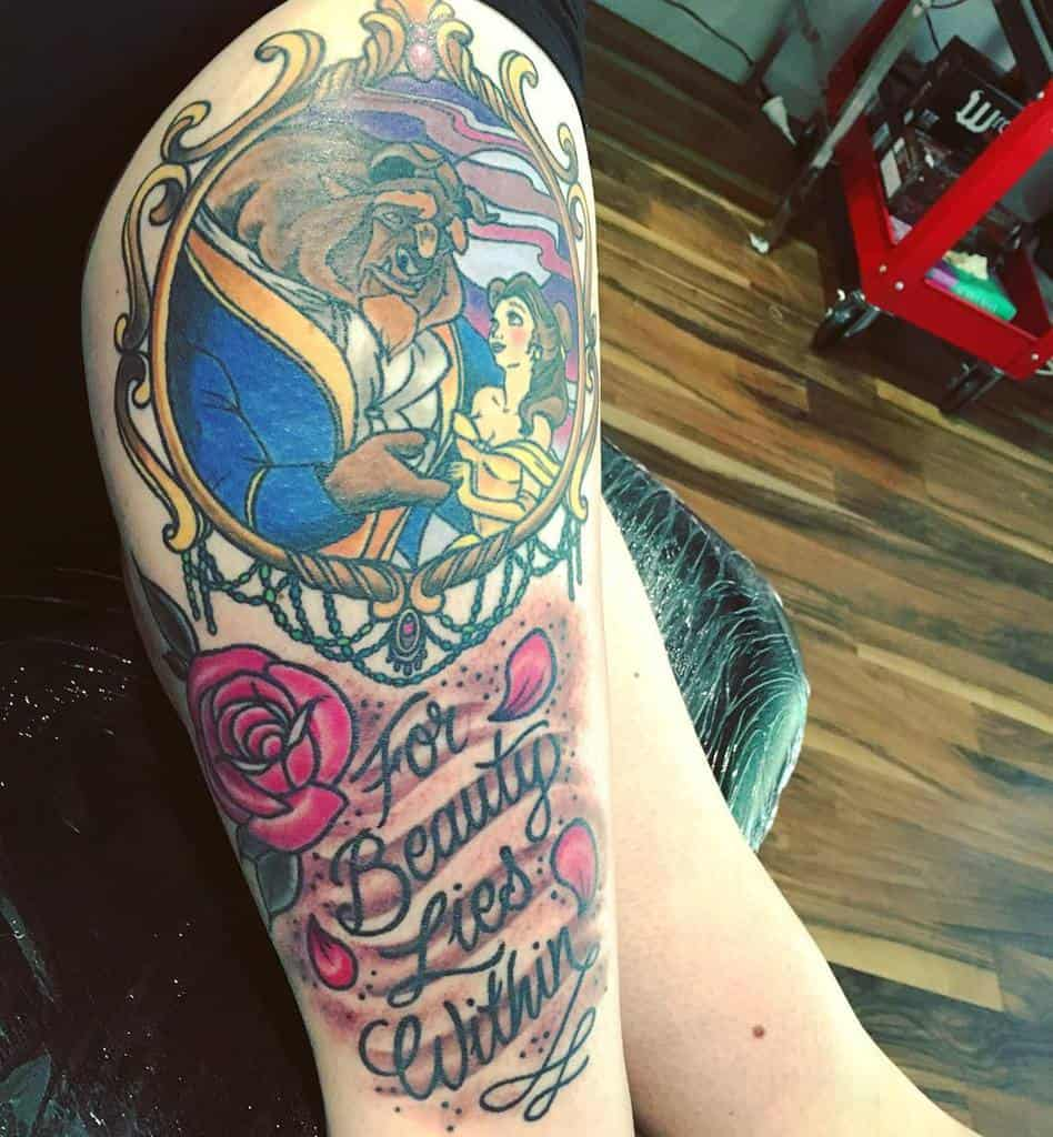 Beauty And The Beast Disney Script Tattoo