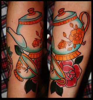 Beauty And The Beast Teapot Tattoo