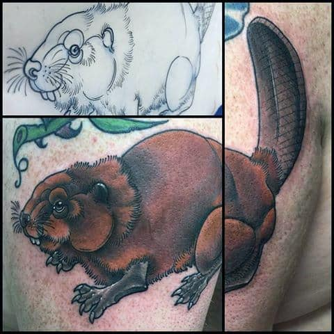 Beaver Mens Tattoo Designs