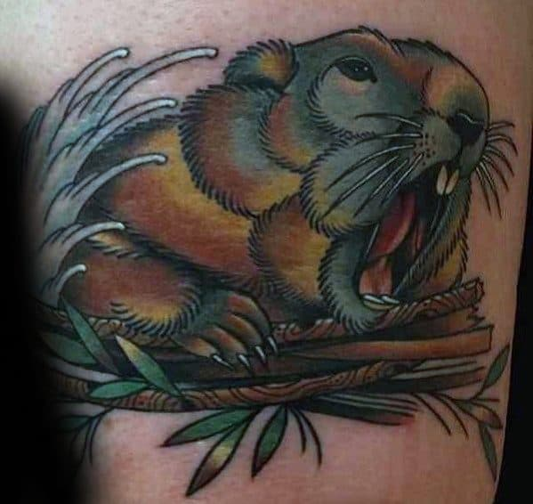 Beaver Mens Tattoo Ideas