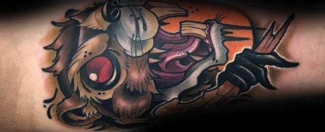 Beaver Tattoo Designs For Men