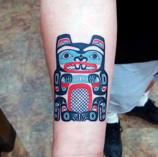 Beaver Tattoos For Gentlemen