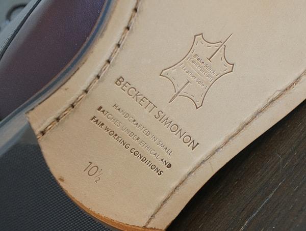 Beckett Simonon Dowler Cap Toe Bottom Of Boot Detail