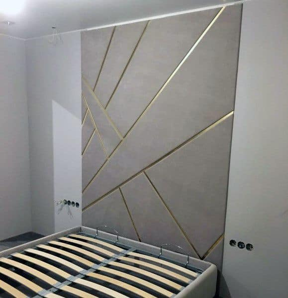 Bed Headboards Ideas Gold And Grey
