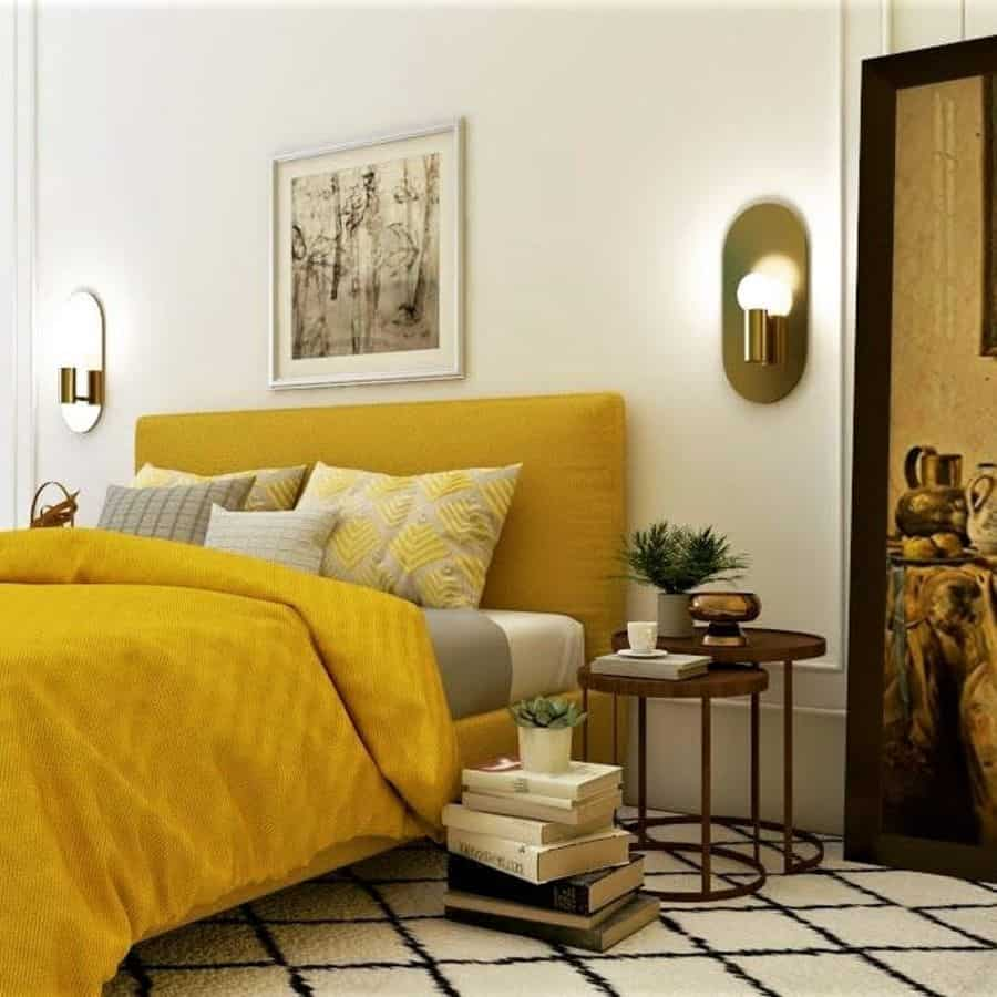 beddings and furniture yellow bedroom ideas v_designspace