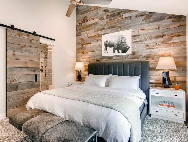 Bedroom Accent Wall Salvaged Wood Ideas