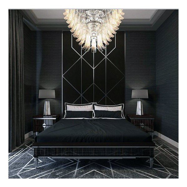 Bedroom Decor College Dark Bedroom Interior Design Bedroom With Green Accent Wall Amazing Interior Design Bedroom For Kids: Top 50 Best Black Bedroom Design Ideas