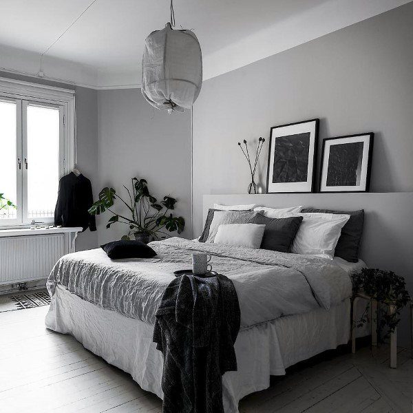 Black And White Interior Design Ideas Pictures: Top 60 Best Grey Bedroom Ideas