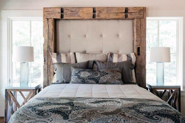 Chambre à coucher des Idées Avec Design Rustique
