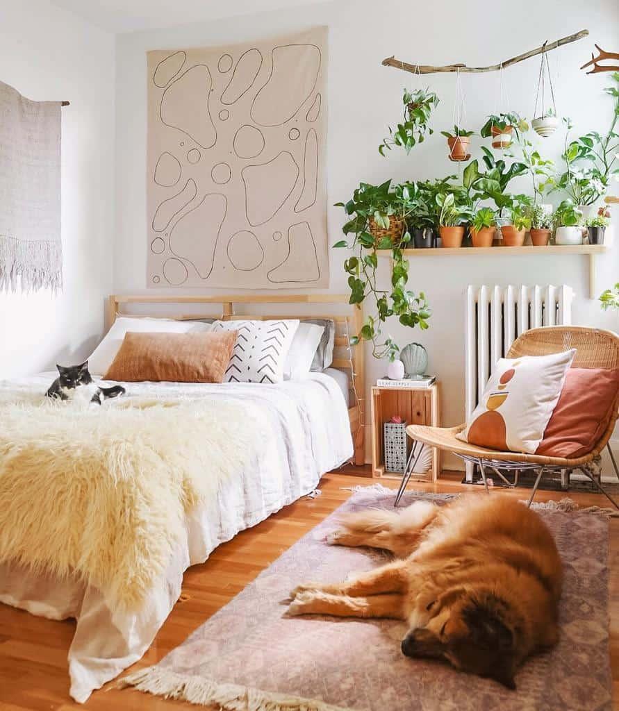 bedroom indoor garden ideas leaves.and.bones