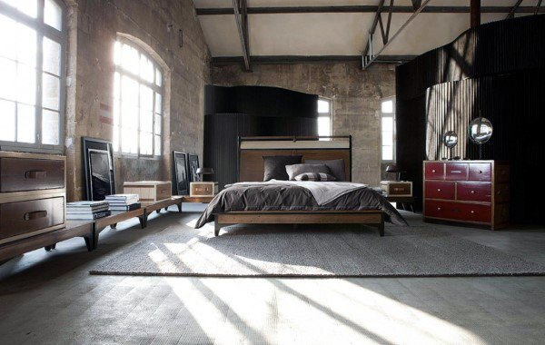Bedroom Industrial Interior Design