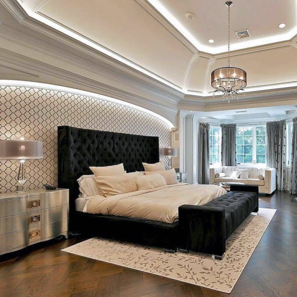 top 50 best trey ceiling ideas overhead interior designs 12708 | bedroom led lighting cool trey ceiling design ideas