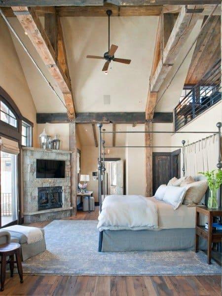 Chambre à coucher Rustique Idées