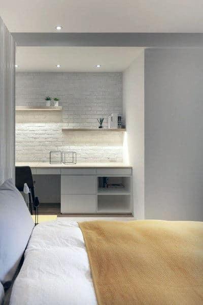 75 Small Home Office Ideas For Men Masculine Interior Designs