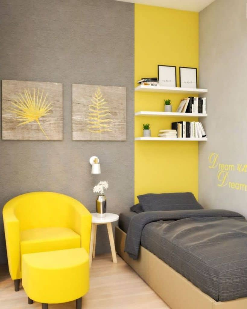 bedroom with yellow accent color roomdsigncom
