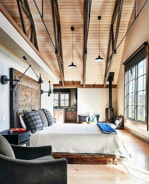Bedroom Wood Ceiling Ideas