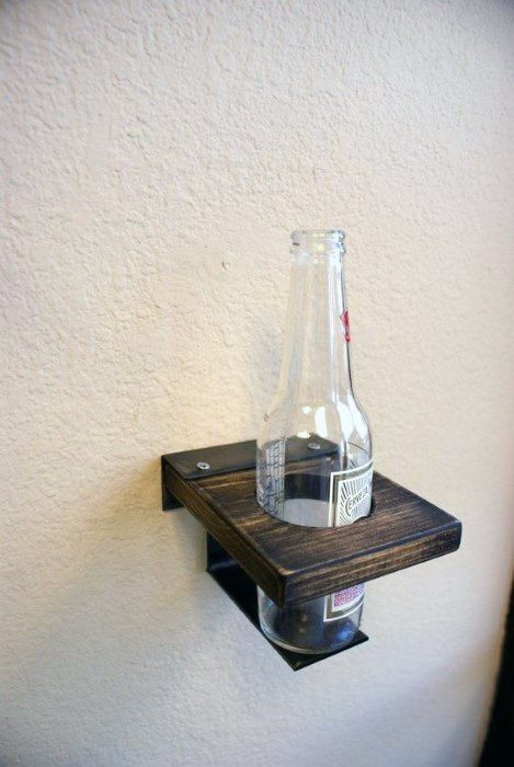 Beer Bottle Holder Shelf Cheap Man Cave Ideas