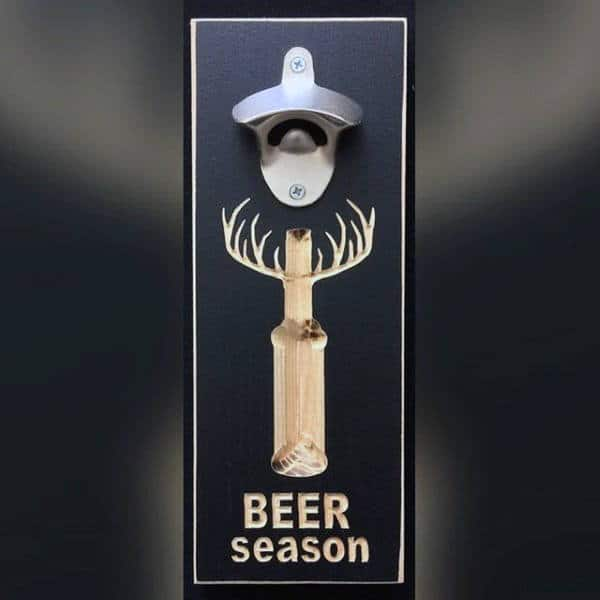 Beer Season Man Cave Decor Bottle Opener On Wall