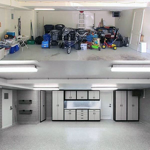 Before And After Garage Organization Ideas