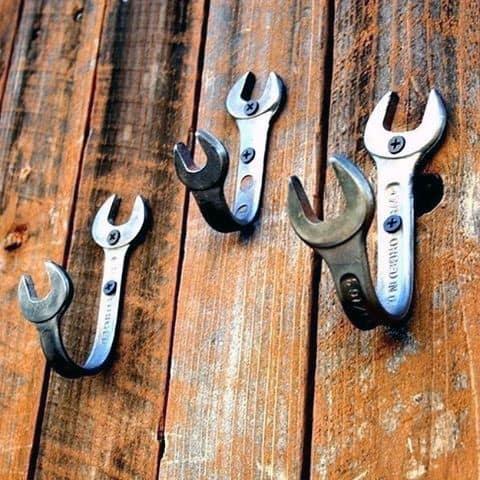 Bent Wrench Coat Hooks Diy Man Cave Ideas
