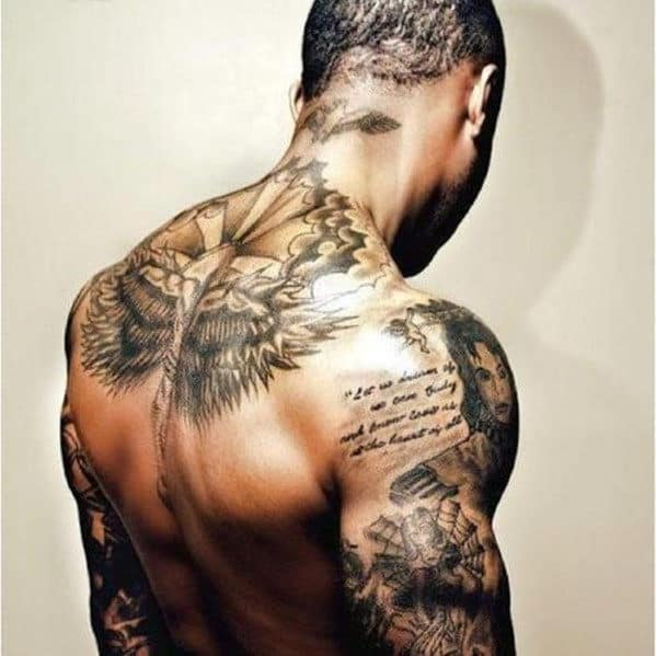 top 50 best shoulder tattoos for men next luxury. Black Bedroom Furniture Sets. Home Design Ideas