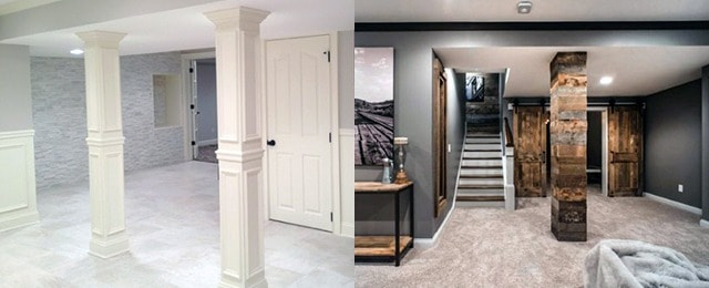 Top 50 Best Basement Pole Ideas – Downstairs Column Cover Designs
