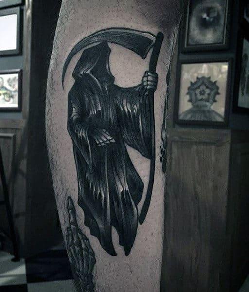 Best Black Grim Reaper Tattoos For Men