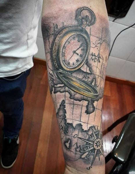 Best Clock Tattoo Designs For Men