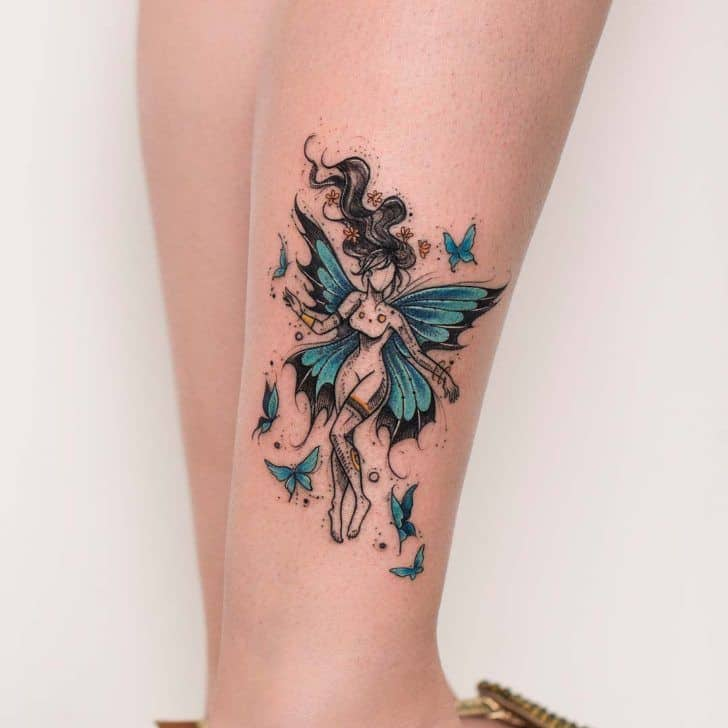 Best Colored Fairy Tattoo