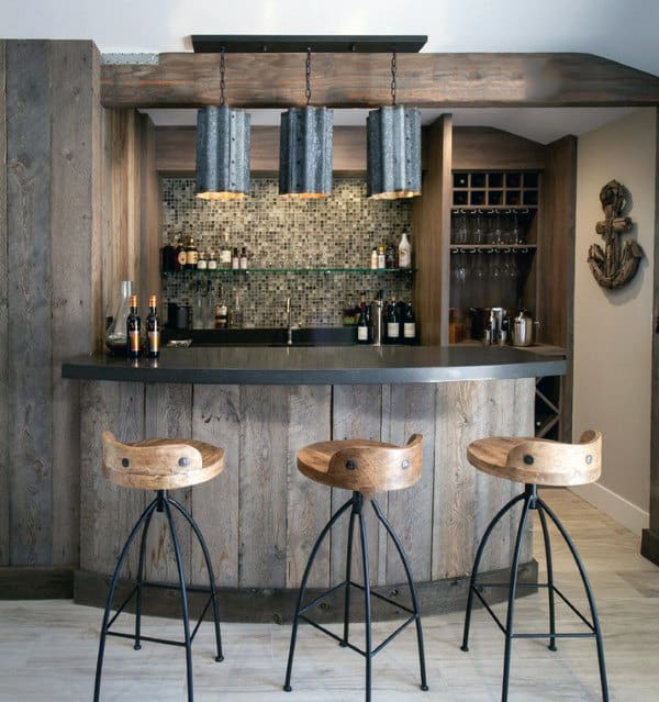 Custom Bars For Homes: 50 Man Cave Bar Ideas To Slake Your Thirst