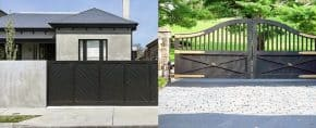 Top 60 Best Driveway Gate Ideas – Wooden And Metal Entrances