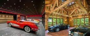 Top 40 Best Garage Ceiling Ideas – Automotive Space Interior Designs