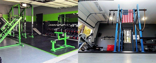 Small garage gym ideas compact