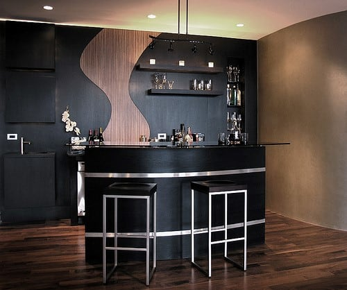 Black Home Bar Furniture: Top 40 Best Home Bar Designs And Ideas For Men