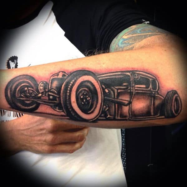 Are rat rods and pin up girls tattoos