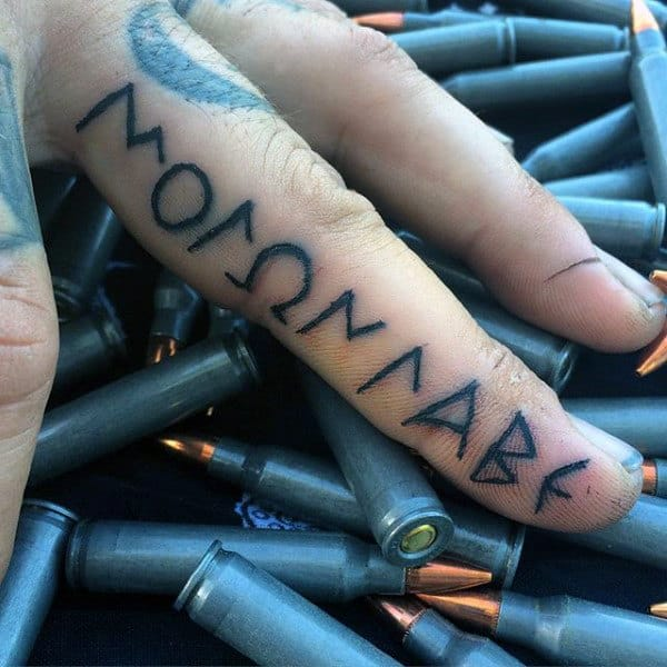 Best Male Finger Tattoos Come And Take It Words
