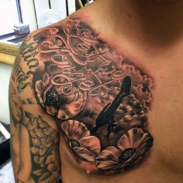 Best Military Tattoos For Men On Chest