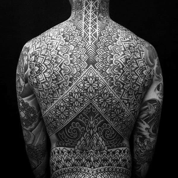 Best Pattern Tattoo Male Full Back